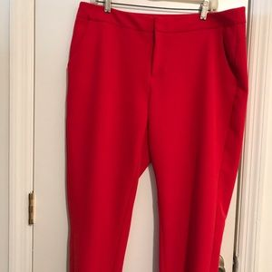 A New Day Red Stretch Dress Pants, Size 14